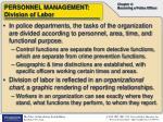 personnel management division of labor