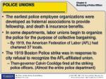 police unions