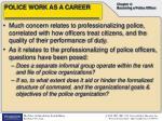 police work as a career