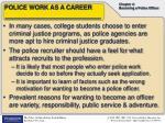 police work as a career1