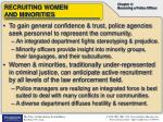 recruiting women and minorities