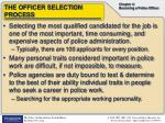 the officer selection process