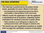 the oral interview