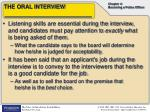 the oral interview1