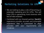 marketing solutions to lpo
