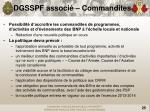 dgsspf associ commandites