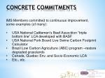concrete commitments