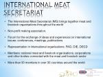 international meat secretariat