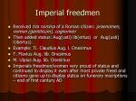 imperial freedmen