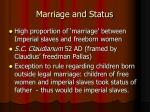 marriage and status