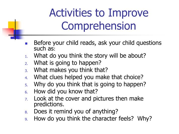 Activities to Improve