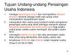 tujuan undang undang persaingan usaha indonesia