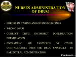 nurses administration of drug