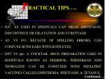 p ractical tips