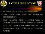 patient drug intake