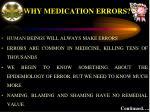 why medication errors