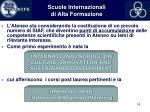 scuole internazionali di alta formazione