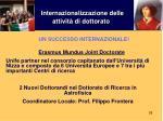 internazionalizzazione delle attivit di dottorato