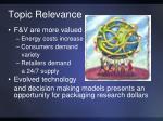 topic relevance1