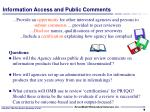 information access and public comments