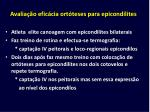avalia o efic cia ort teses para epicondilites