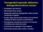 termografia respira o abdomino diafragm tica retorno venoso