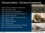 ericsson history 133 years of leadership