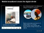 mobile broadband closes the digital divide