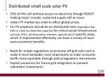 distributed small scale solar pv