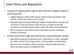 solar policy and regulation