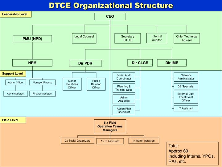 DTCE Organizational Structure