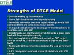 strengths of dtce model