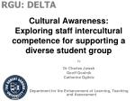 cultural awareness exploring staff intercultural competence for supporting a diverse student group