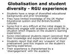 globalisation and student diversity rgu experience