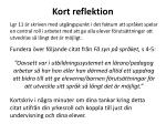kort reflektion