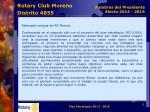 rotary club moreno distrito 48555