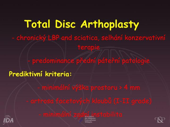 Total Disc Arthoplasty