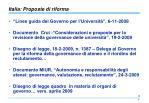 italia proposte di riforma