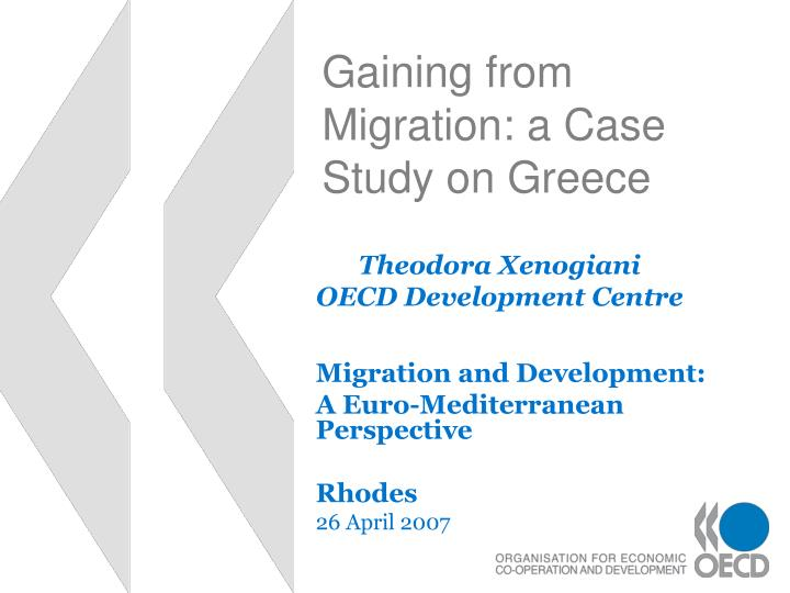 gaining from migration a case study on greece n.