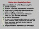 historical context of atypical forms of work