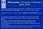 discussion eu policy challenges soete 2000