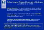 policy issues regional innovation strategies landabaso et al 1999