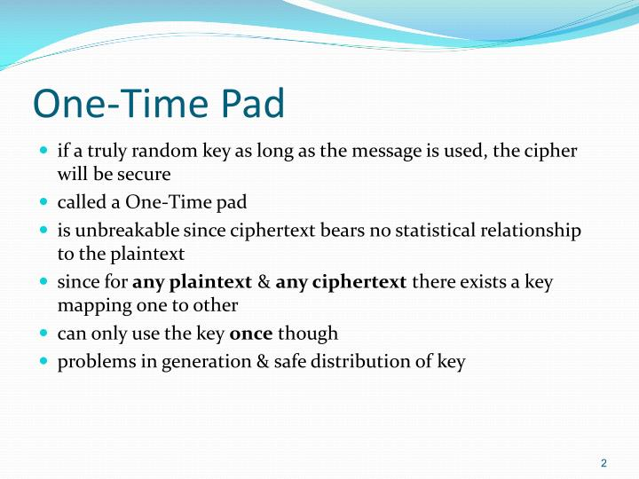 One time pad