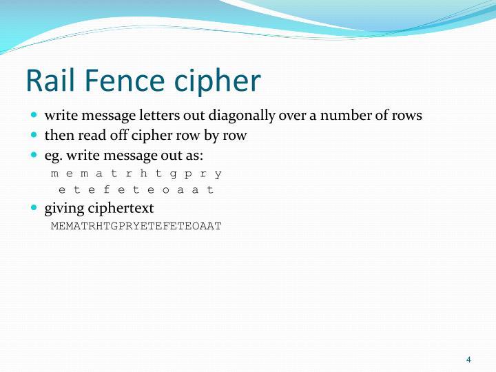 Rail Fence cipher