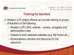 training for teachers
