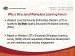 why a structured workplace learning forum