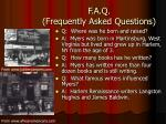 f a q frequently asked questions