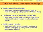 characterisation of sewerage as technology