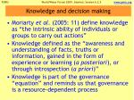 knowledge and decision making
