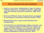 policy networks and state autonomy